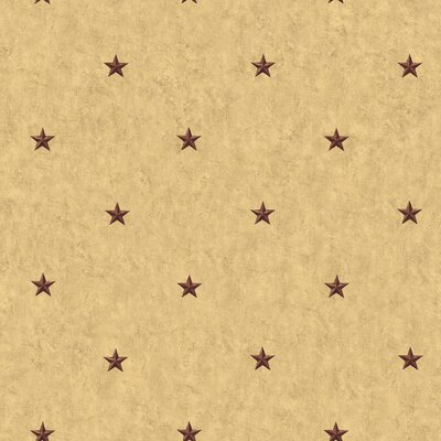 Country Keepsakes Barn Star Spot 33' x 20.5 Geometric Wallpaper