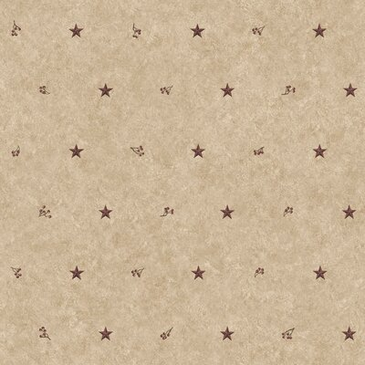 Country Keepsakes Barn Star Sidewall 33' x 20.5 Geometric Wallpaper