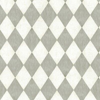American Old World 33' x 20.5 Geometric Wallpaper Color: Off-White / Beige / Steel Grey / Graphite Grey
