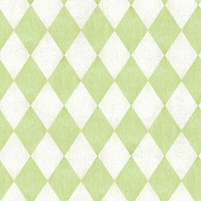 American Old World 33' x 20.5 Geometric Wallpaper Color: Off-White / Grey / New Sprout Green / Green