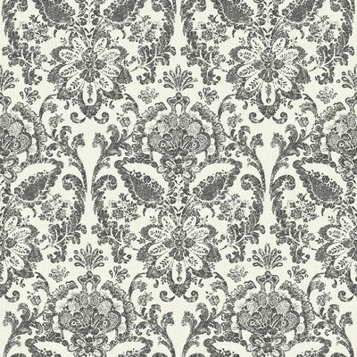 American Floral 33' x 20.5 Damask Wallpaper