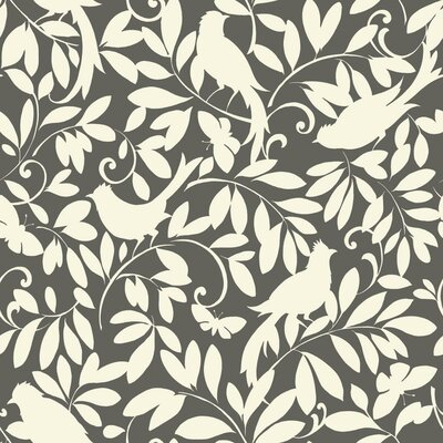 Waverly Cottage Birdsong 33' x 20.5 Botanical Wallpaper
