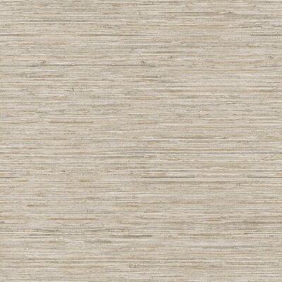 Nautical Living Horizontal Grasscloth Herringbone 33' x 20.5 Wallpaper Roll