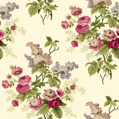Waverly Cottage Emma's Garden 33' x 20.5 Floral Wallpaper