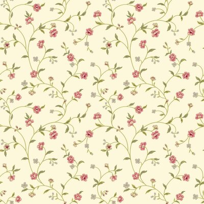 Waverly Cottage Bellisima Vine 33' x 20.5 Floral Wallpaper