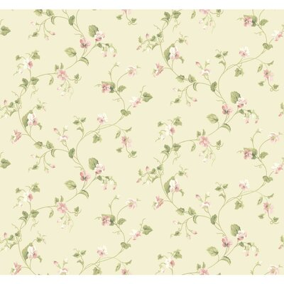 Waverly Cottage Sweet Violets Trail 27' x 27 Floral and Botanical Wallpaper