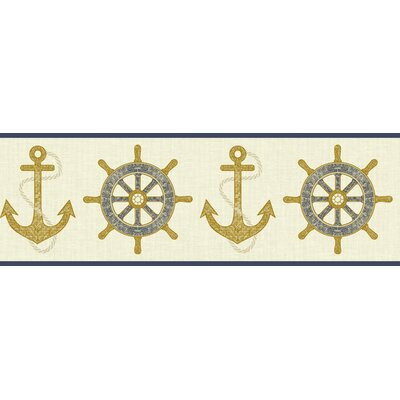 Nautical Living Nautical Sport 15' x 6.75 Scenic Border Wallpape