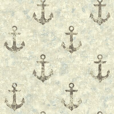 Nautical Living Anchor Away 33' x 20.5 Scenic Wallpaper