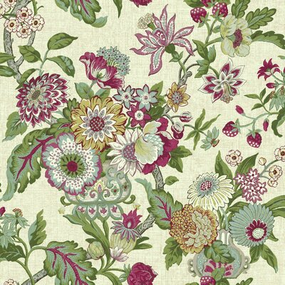 Waverly Global Chic Floral and Botanical 33' x 20.5 Wallpaper Roll