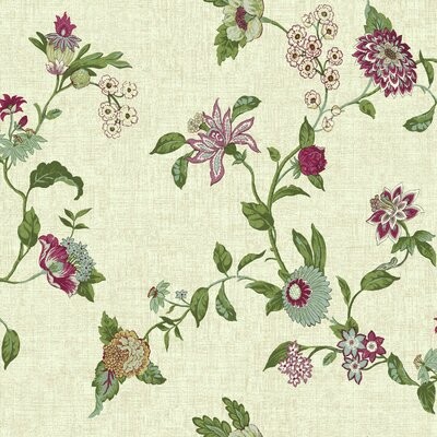 Global Chic Graceful Garden Trail 33' x 20.5 Floral and Botanical Wallpaper