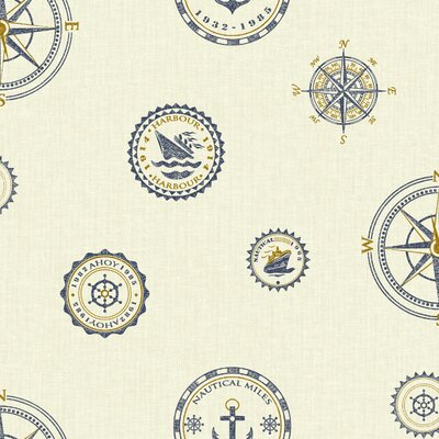 Nautical Living Nautical Spot 33' x 20.5 Polka Dot Wallpaper