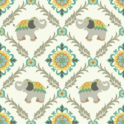 Waverly Kids Bollywood 33' x 20.5 Wildlife Wallpaper