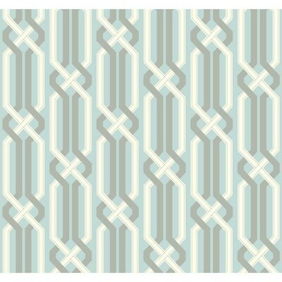 Carey Lind Vibe Criss Cross Removable 27' x 27 Geometric Wallpaper