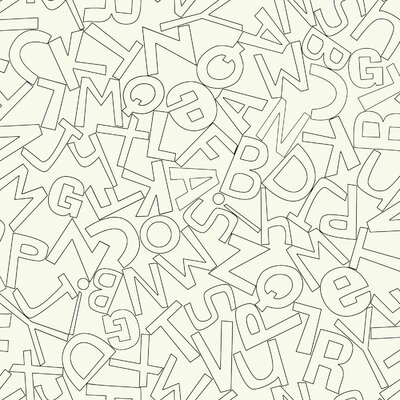 Waverly Kids Alphabet Soup 33' x 20.5 Wallpaper
