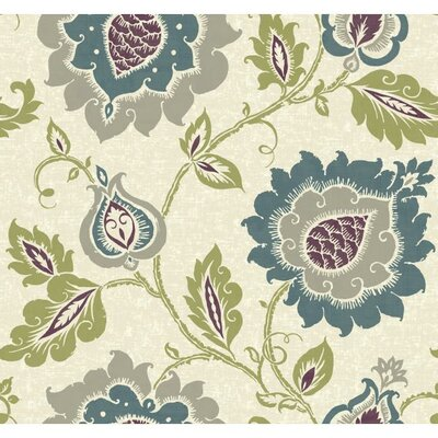 Carey Lind Vibe Removable 27' x 27 Jaco Floral Wallpaper