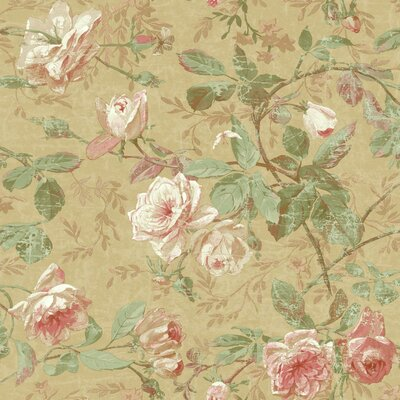 Luxe 33' x 20.5 Floral Medium / Large Roll Wallpaper