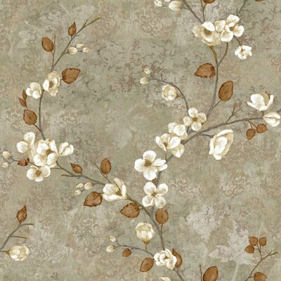 Charlotte Dogwood 33' x 20.5 Floral Medium / Large Roll Wallpaper