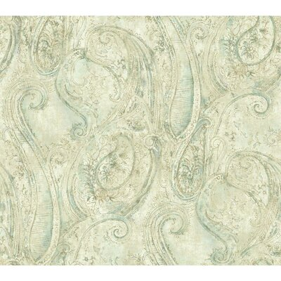Luxe Sketched 27' x 27 Paisley Roll Wallpaper