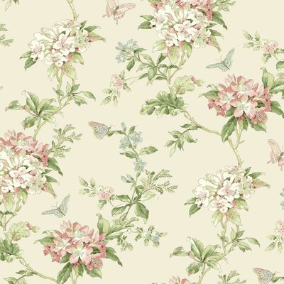 Waverly Cottage Fawn Hill 27' x 27 Floral Wallpaper