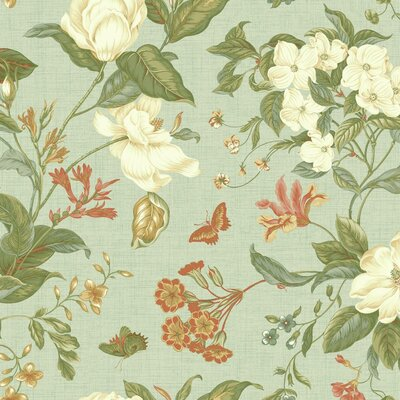 Williamsburg Garden Images 27' x 27 Floral and Botanical Wallpaper