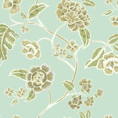Global Chic Zen Garden Trail 27' x 27 Floral and Botanical Wallpaper