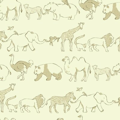 Waverly Kids Congo Line 27' x 27 Wildlife Wallpaper