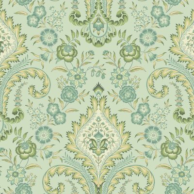 Williamsburg Isham Indienne 27' x 27 Floral and Botanical Wallpaper