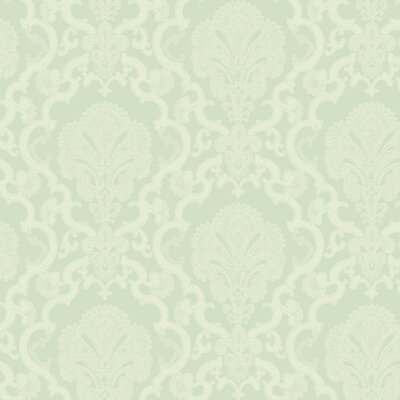 Williamsburg Halifax Lace 27' x 27 Damask 3D Embossed Wallpaper