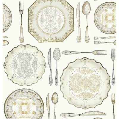 American Dinnerware 33' x 20.5 Food and beverage Wallpaper