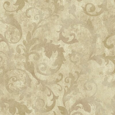 Bianca 27' x 27 Scroll 3D Embossed Roll Wallpaper