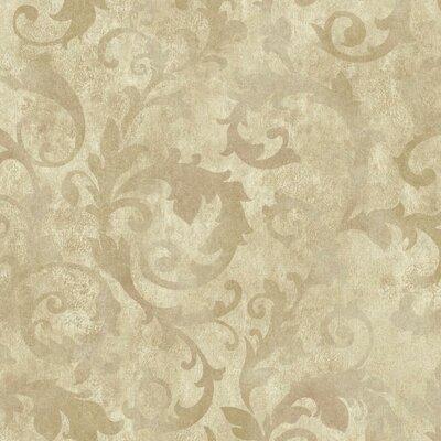 Bianca 27' x 27 Scroll 3D Embossed Roll Wallpaper