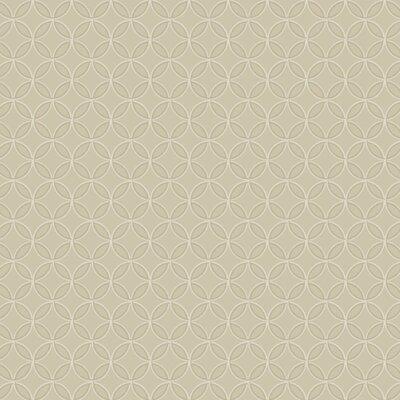 Trista  27' x 27 Geometric 3D Embossed Roll Wallpaper