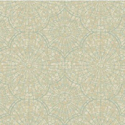Celeste 27' x 27 Abstract 3D Embossed Roll Wallpaper