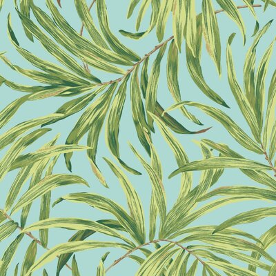 Ashford Tropics 27' x 27 Bali Leaves Wallpaper