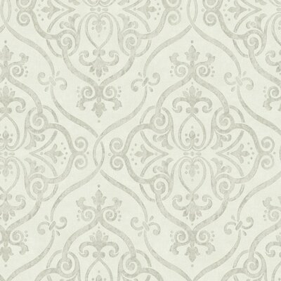Glam Interlocking Geo 27' x 27 Damask 3D Embossed Wallpaper