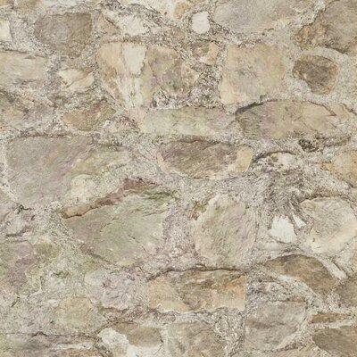 Weathered Finishes 33' x 20.8 Field Stone Wallpaper