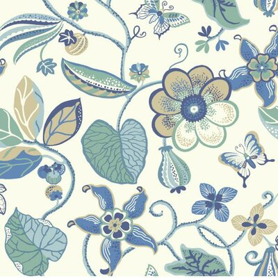 Carey Lind Vibe Sea Removable 27' x 27 Floral Wallpaper