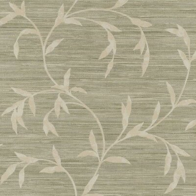 Weathered Finishes Vine Scroll 33' x 20.8 Botanical Wallpaper