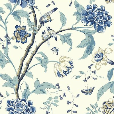 Carey Lind Vibe Teahouse Removable 27' x 27 Floral Wallpaper
