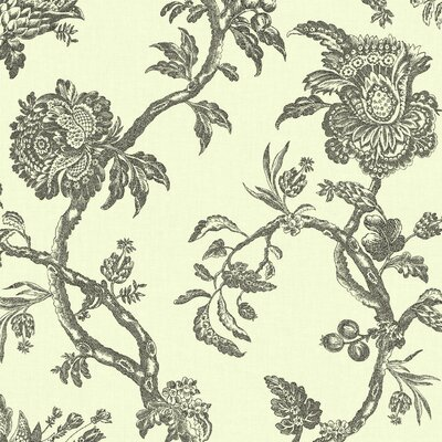 Williamsburg II 27' x 27 Arcadia Floral Texture Wallpaper