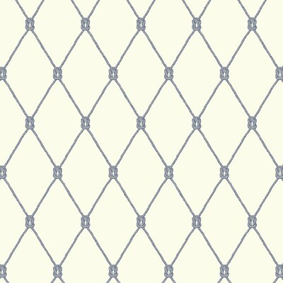 Nautical Living Knot 27' x 27 Trellis Wallpaper