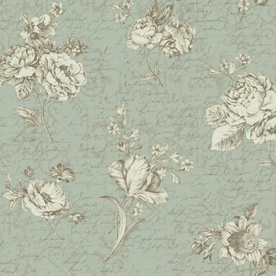 Waverly Cottage Magnolia Blossoms Picture Perfect 33' x 20.5 Floral Wallpaper