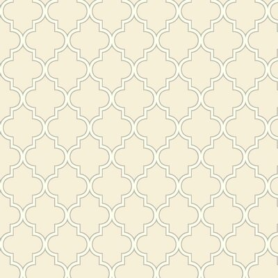 Waverly Cottage Buzzing Around 27' x 27 Trellis Wallpaper