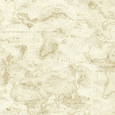 Nautical Living Coastal Map 27' x 27 Wallpaper