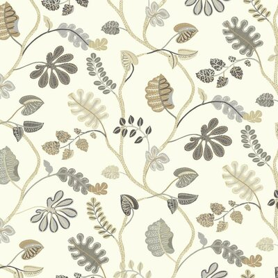 Waverly Small Prints a New Leaf 27' x 27 Botanical Wallpaper