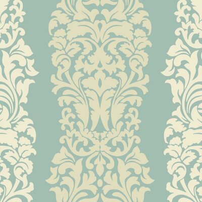 Modern Luxe Harmony 27' x 27 Damask Wallpaper