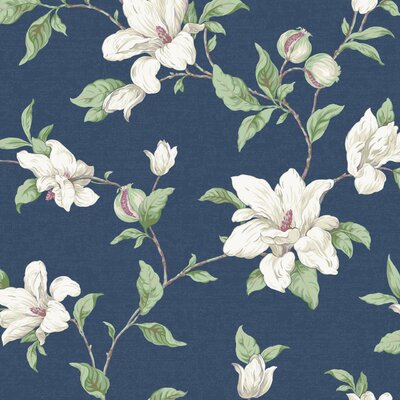 Artisan Estate Magnolia Vine 27' x 27 Floral Wallpaper