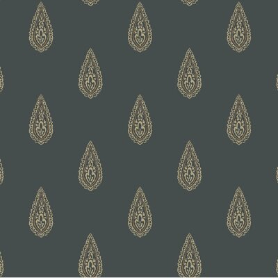 Kashmir 27' x 27 Teardrop Paisley Wallpaper