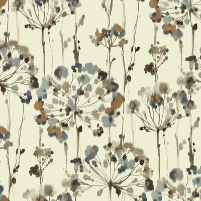 Artisan Flourish 27' x 27 Floral Medium / Large Roll Wallpaper