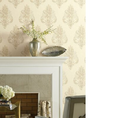 City Lights 27' x 27 Damask Wallpaper